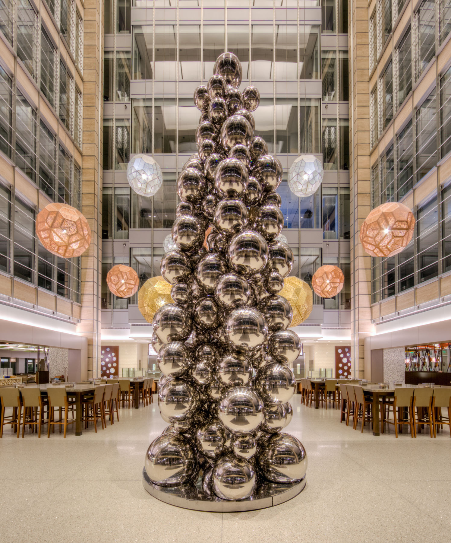 Assymmetrical Stainless Steel Ball TRee