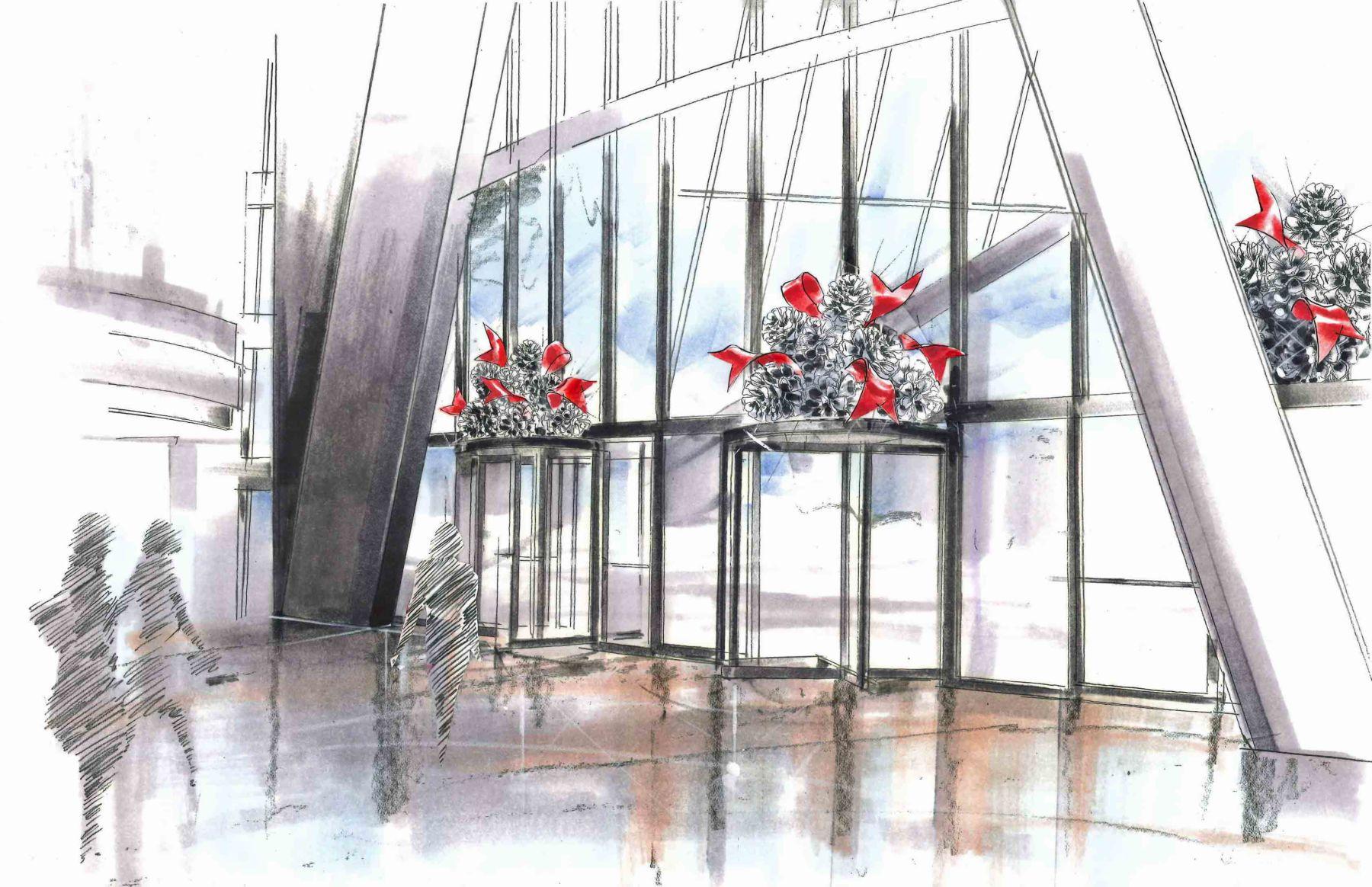 Devon turnstyle pinecones | Venue Arts